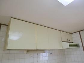 キッチン上部の収納。
