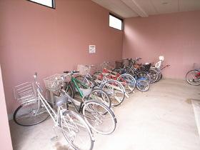 自転車置場には屋根もついてます。雨の日も安心