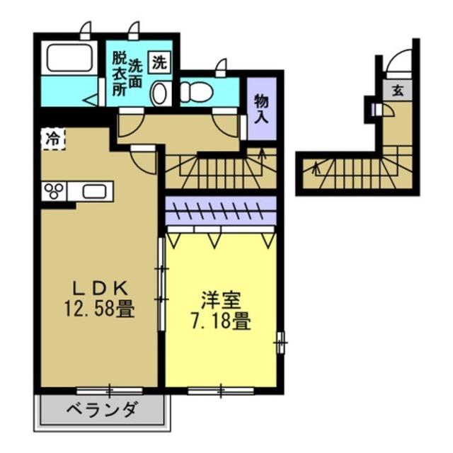 LDK12.58帖洋室7.18帖
