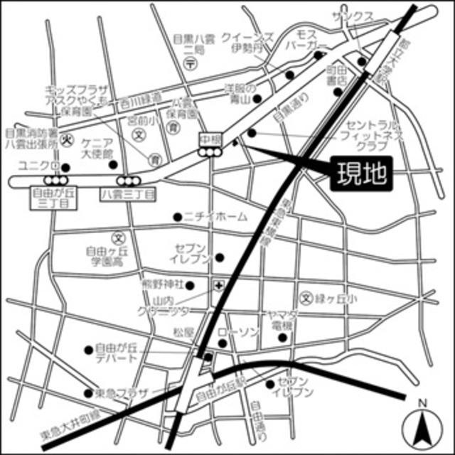 cortile自由ヶ丘案内図