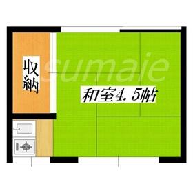 4・5帖和室のシンプルなお部屋です♪