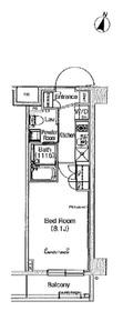 プラウドフラット学芸大学Ⅱ2階Fの間取り画像
