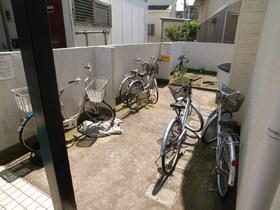 自転車はここ