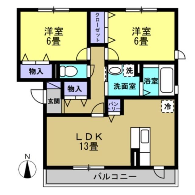 LDK13帖・洋6帖・洋6帖