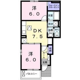 2DK 46.06平米 4.8万円 愛媛県四国中央市土居町 津根