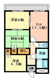 3DK 62平米 4.3万円 愛媛県大洲市西大洲1306ー1