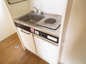 1口電気コンロの冷蔵庫付き☆