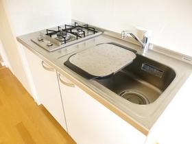 キッチンは二口ガスコンロ付きです