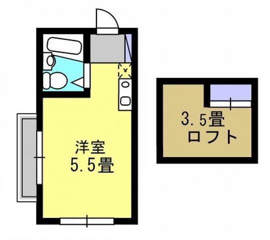 洋5.5帖 ロフト3.5帖