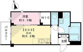 ビューノ目黒本町2階Fの間取り画像