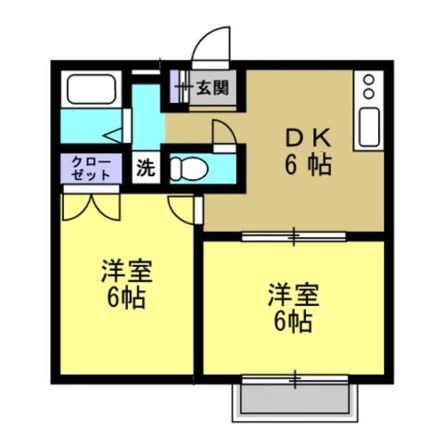 DK6帖洋室6帖洋室6帖