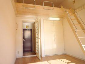 照明器具付の賃貸1Kアパート。