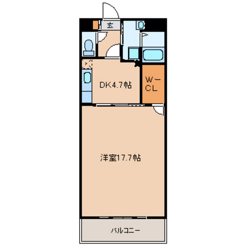 DK4.7帖  洋室17.7帖