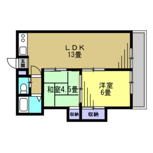 LDK13帖・洋室6帖・和室4.5帖