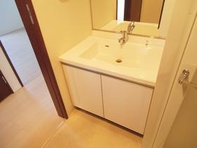 大きな独立洗面台も完備しています!