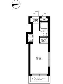スカイコート横浜港南台4階Fの間取り画像