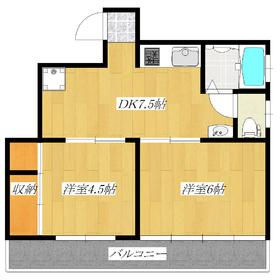 室内フルリフォーム!2DKのお部屋です!