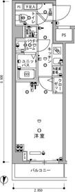 スカイコート神楽坂参番館1階Fの間取り画像