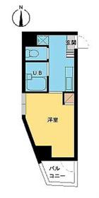スカイコート高田馬場第36階Fの間取り画像