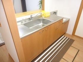 2口ガスコンロ設置可の対面キッチン