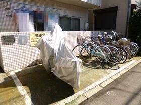 バイクも置ける駐輪場!