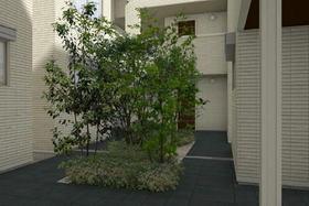 緑のある中庭♪