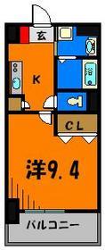 洋室広々9.4帖!クローゼットも広々ですよ!