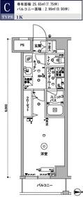 スカイコート木場ガーデン8階Fの間取り画像
