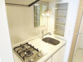 キッチンはシステムキッチンで二口ガスコンロ付です