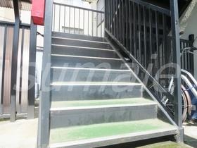お部屋に上がる階段です☆