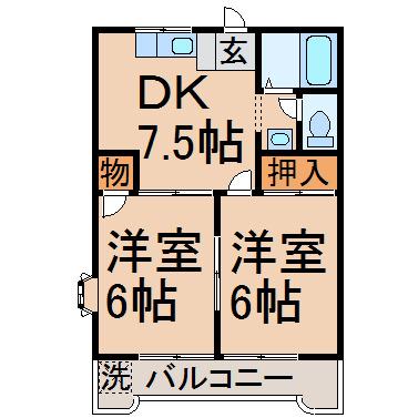 洋6帖 洋6帖 DK7.5帖