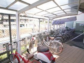 自転車置場には屋根付き!