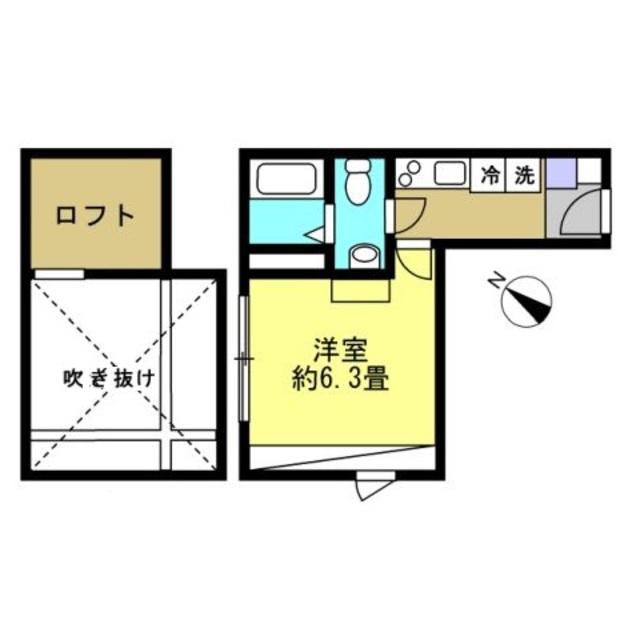 洋室6.3帖 ロフト有り♪