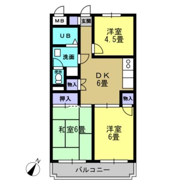 洋室6 和室6 DK6 洋室4.5