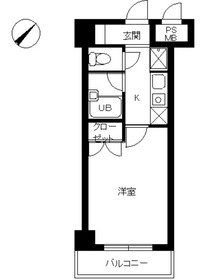 スカイコート世田谷用賀第31階Fの間取り画像