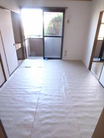 南向き日当たり良好!次の入居まで畳が焼けないように保護してます!
