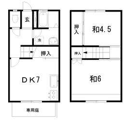 2DK 52.82平米 3.6万円 高知県高知市瀬戸 西町1丁目223