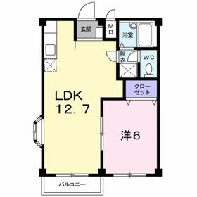 1LDK 39.19平米 4.0万円 香川県高松市木太町