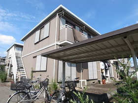 自転車置場は屋根付きですよ