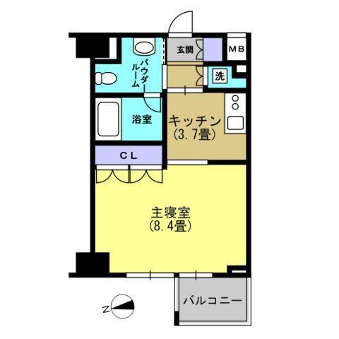 洋室8.4 キッチン3.7