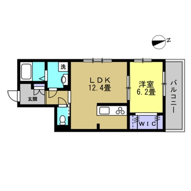 LDK12帖・洋室6.4帖