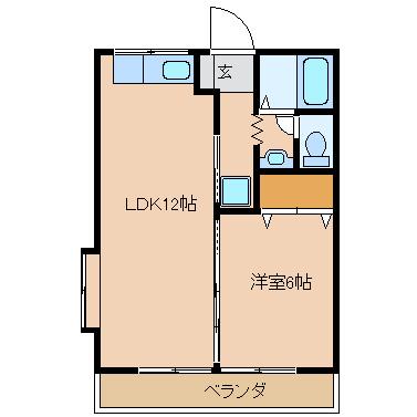 LDK12帖 洋室6帖