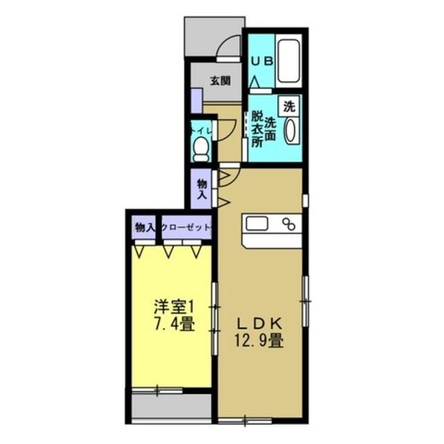 LDK12.9帖 洋室7.4帖