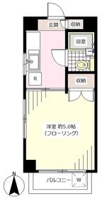 小室ビル2階Fの間取り画像