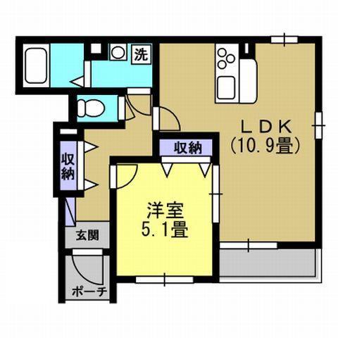 1LDK LDK10.9 洋5.1