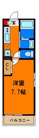 広めに取った約7.7帖の洋室が使いやすいお部屋☆