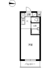 スカイコート駒場東大前4階Fの間取り画像