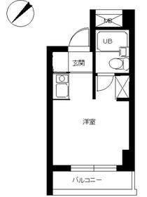シティマンションオリエント伊勢佐木町9階Fの間取り画像