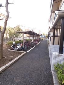 敷地内に自転車置き場完備