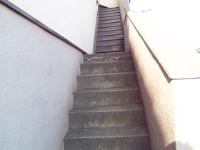 アパートの階段です!